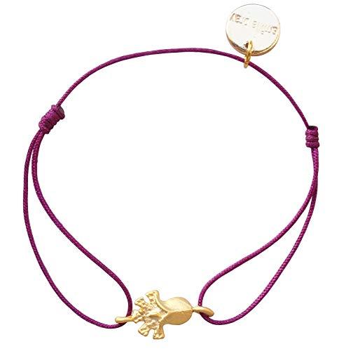 Smilla Brav® Lotus Chakra Yoga Damen-Armband Energie Schmuck – himbeer/gold – ED01