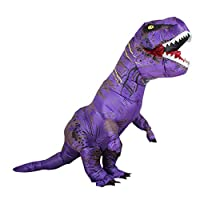 Zi Xi & Zi Qi T-Rex Inflatable Dinosaur Mascot Party Costume Fancy Dress Cosplay Outfit Adult