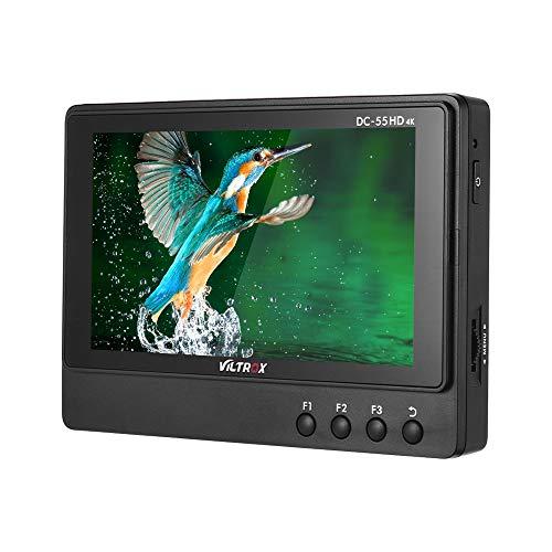TOPTOO Viltrox DC-55 5,5-Zoll-professioneller 1920 * 1080 HD-Monitor 4K HDMI-AV-Eingangskamera-Videomonitor mit Peaking Focus/Falschfarben/Monochrom-Anzeige/Leuchtdichte Histogramm /