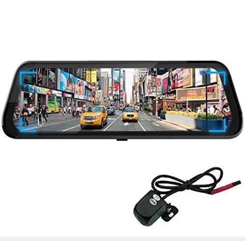 "Y&Jack Mirror Dash Cam Reversing Camera 10""Full Hd Touch Screen Car Sprint Camera Stream Dual Lens 170°1080p Front und 150°1080p Rear View Camera"