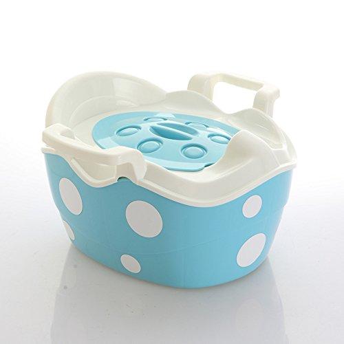 Toilettes pour enfants La Toilette Mignonne de Voyage de bébé de Style de Tabouret d'étape de Chaise de Pot d'enfants de bébé, Conception démontable portative de tiroir avec des poignées de sûreté