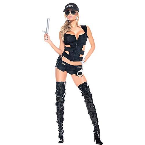 LVLUOYE Halloween Polizei beschwört Unterwäsche, Polizeikostüm USA Split Police Carriage, One ()