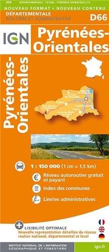 D66 PYRENEES-ORIENTALES  1/200.000