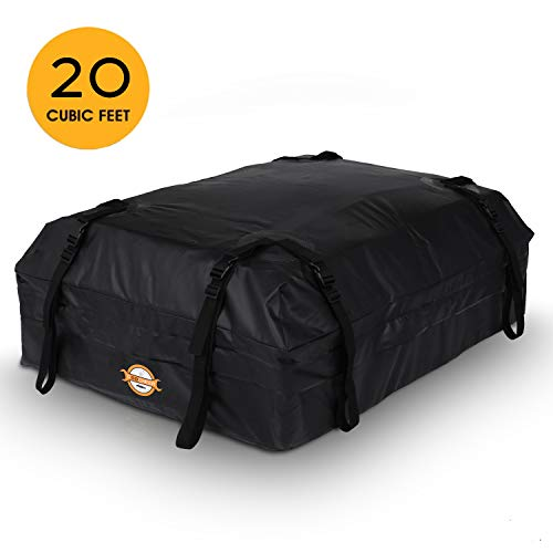 Sailnovo Dachbox für Auto, Faltbare Dachkoffer Wasserdicht Dachtasche 20 Kubikfuß Auto Faltbox Dach Jetbag Dachgepäckträger Tasche für Reisen und Gepäcktransport, Schwarz