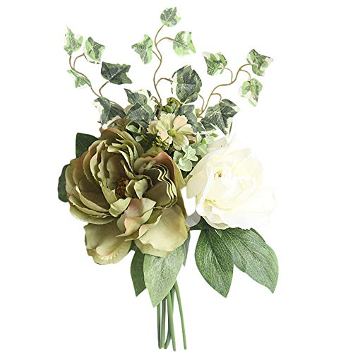 Andouy artificiale seta fiori finti peonia floreale bouquet da sposa decoro ortensia nuziale