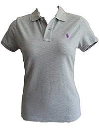 26f68413e6540 Ralph Lauren Ladies Polo Shirt Skinny Fit Short Sleeve