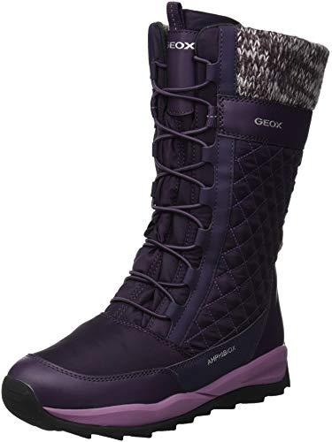 Geox Mädchen J Orizont B Girl ABX C Schneestiefel, Violett (Dk Purple C8016), 29 EU