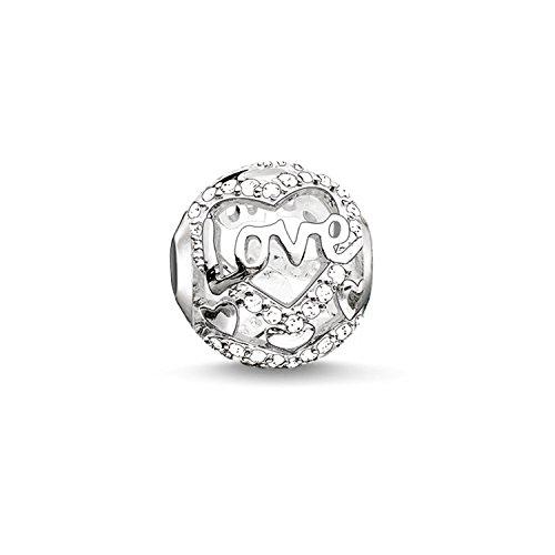 Thomas Sabo Damen-Bead Herz Liebe Karma Beads 925 Sterling Silber weiß K0177-051-14