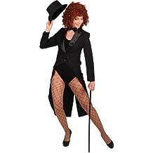 ORLOB Déguisement Costume Costume Femme Queue de Pie avec col Satin dans  Les Tailles 34  8f5821e1553