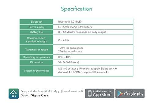Sigma Casa Smart Motion Sensor – intelligenter Bewegungsmelder für Smart-Home Haus-Automatisierung dient als Alarmanlage, Licht-Steuerung oder Schaltung von Steckdosen über Smartphone oder Tablet - 9