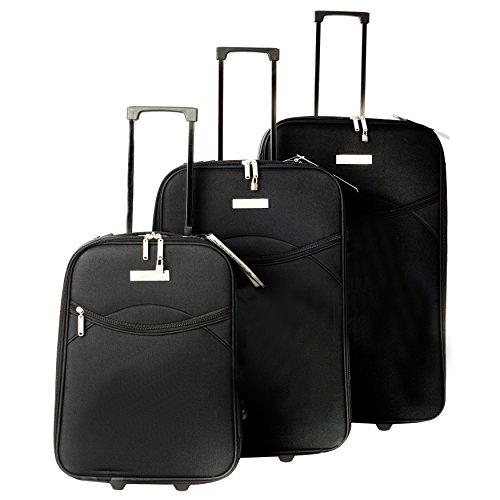 Constellation Juego de maletas set, Negro (Negro) - LG00265BLKQDMIL