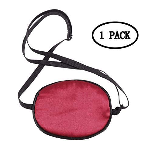 BIEE Schlaf Augenbinde Einstellbare Seidenpiraten-Augenklappen Weiche und komfortable...