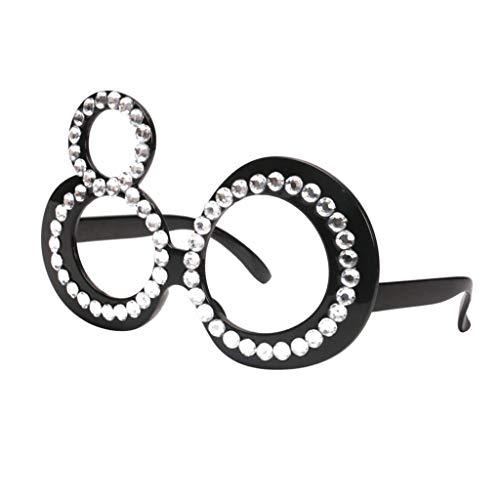 F Fityle Unisex Spassbrille Partybrille Halloween Brillen zum Geburtstag - 80