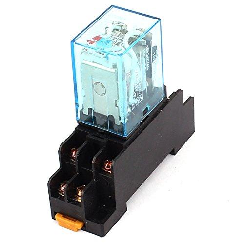 Preisvergleich Produktbild sourcingmap® LY2NJ AC 220V Spule 8Pin DPDT Elektromagnetisch Kraft Relais mit Steckdose Basis de