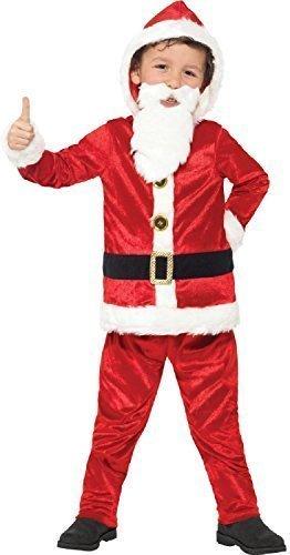 Fancy Me Jungen musikalisch Hoe Hoe Hoe Jolly Weihnachtsmann festlich Weihnachten Weihnachtsmann Maskenkostüm mit gepolsterter Bauch + Bart 4-14 Jahre - 10-12 Years