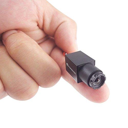 TEKMAGIC 520TVL Mini CCTV Kamera Überdacht Video Überwachungskamera mit Mikrofon Größe 11x11mm