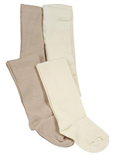 Cotton Prime 4er Set Kinder Strumpfhosen, Baumwolle, Mädchen und Jungen Strumpfhose (Öko-Tex Standard 100 Zertifiziert) Gr. 110/116
