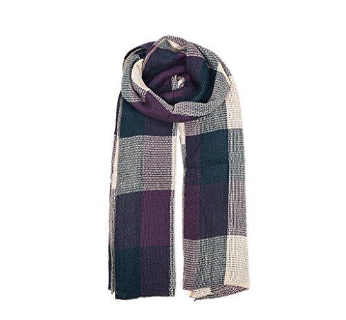 Sciarpa primavera e in autunno scialle - Consente di utilizzare Super - Long imitazione cashmere Plaid Scarf ( colore : A