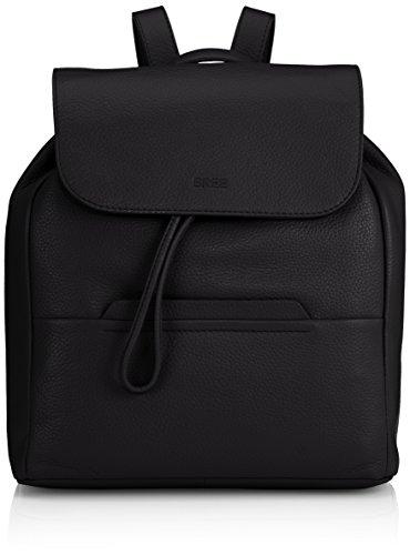 BREE Faro 4, black, backpack 338900004 Damen Rucksackhandtaschen 37x12x30 cm (B x H x T), Schwarz (black 900)