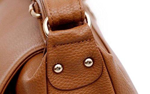 Schulterbeutelhand Diagonale Weibliche Paketlederlederart Und Weise Brown
