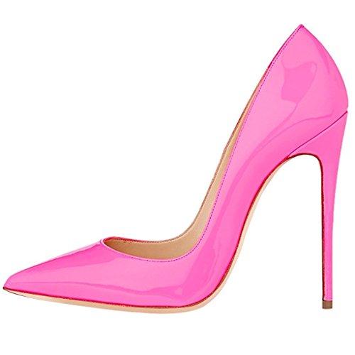 Kolnoo Damen Pumps mit Stiletto Heels Größe Pink