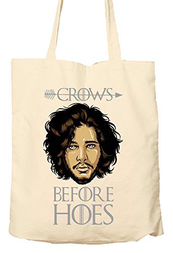 Preisvergleich Produktbild Crows Before Hoes - Game Of Thrones Parody - Environmentally Friendly Tote Bag, Natural Shopping Bag