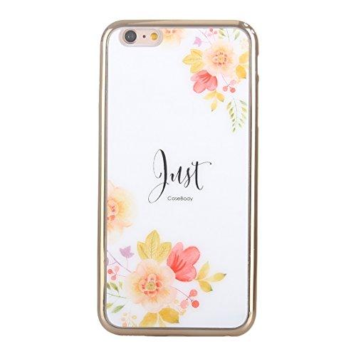 Pour IPhone 6 / 6s galvanoplastie de fleurs JUST Pattern TPU Housse de protection JING ( SKU : S-IP6G-0858D ) S-IP6G-0858CB