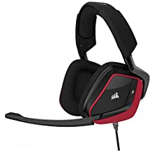 CORSAIR VOID PRO SURROUND Gaming Headset - Dolby 7.1 Surround Sound Headphones for PC - Works with Xbox One, PS4, Nintendo Switch, iOS and Android - Red (CA-9011157-NA)