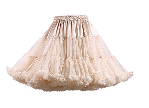 Honeystore Damen Mädchen Kinder Tanzen Ballett Tutu Rock Ballett Pettiskirt Prinzessin Tanz Röckchen Tutu Kostüme Champagner