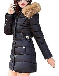 Mujer Plumas Otoño Invierno Ropa Colmar Cálido Encapuchado Chaqueta Acolchada Fashion Casual con Cuello De Piel