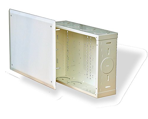 benner-nawman 14104-mm Strukturierte Verkabelung Schränke, 14-1/4-Zoll x 25,4x 4-Zoll, weiß (Verkabelung-schrank Strukturierte)