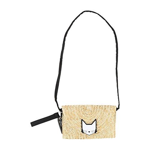 Karl Lagerfeld Kids Tasche Clutch Minaudiere Stroh Choupette 14 cm x 20 cm
