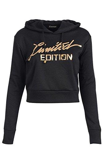 Fast Fashion - Hoodie Limited Edition Print Recadrée - Femmes Noir