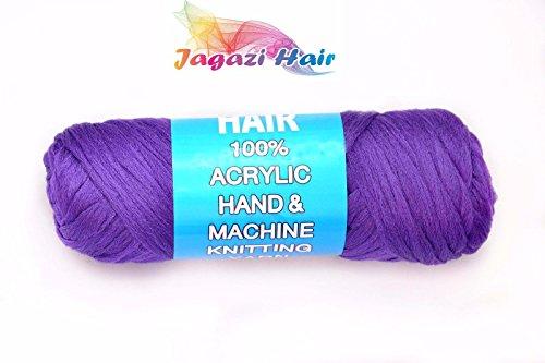 UK. Lila. brasilianisches Wolle Haar: Faux Schlösser, Zöpfe, Twist, stricken, Brasilien Wolle. Garn (Garn Twist Zöpfe)