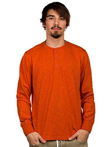 Herren Sweater Burton Curtis Henley Sweater heather rustbucket