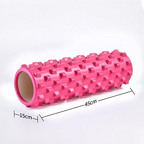 Fitness - Schaum - Schaft - Yoga - Säule - Spike - Zahn - Muskel - Entspannung - Schaum - Roller - Ofen - Roller - Roller - Schaft - Massage - Roller - Massage - Faszien - Release - Ermüdung Pink -