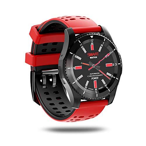 QUARKJK Smart Watch Mode wasserdicht GPS-Unterstützung SIM-Karte WiFi Smart Watch Blutdruck Herzfrequenz Android,Red (388 Uhr Batterie)