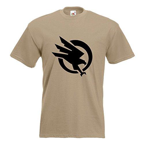 KIWISTAR - Global Defense Initiative T-Shirt in 15 verschiedenen Farben - Herren Funshirt bedruckt Design Sprüche Spruch Motive Oberteil Baumwolle Print Größe S M L XL XXL Khaki