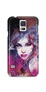 Casenation Vibrant Brush Painting Matte Case Cover For Samsung Galaxy S5