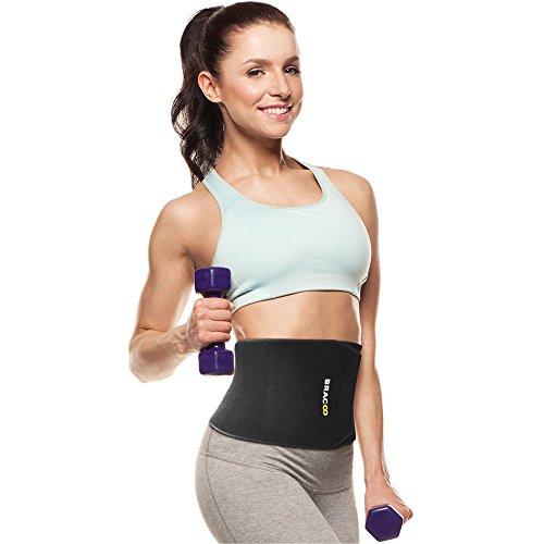 BRACOO extra-breiter Fitnessgürtel – Bauchweggürtel – Waist Trimmer – Hot Belt | Abnehmen mit dem Schwitzgürtel für Damen und Herren