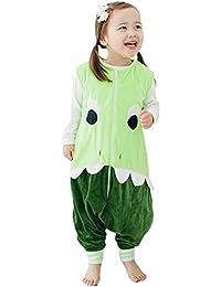 Happy Cherry - Saco de Dormir Infantil Mono del Algodón Franela con Cremallera Pijama de Bebé