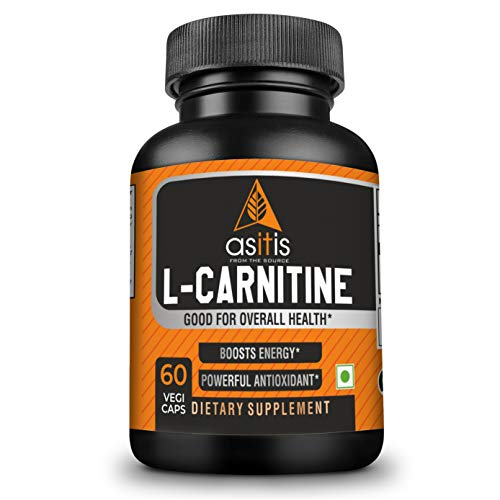 AS-IT-IS Nutrition L-Carnitine 500mg, 60 Capsules   Boosts Energy & Performance   Zero Fillers   Lab-Tested