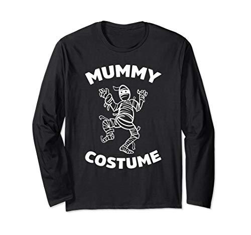 Scary Kostüm Mumie - Mumie Kostüm Gruselig Halloween Scary Party Liebhaber Humor Langarmshirt