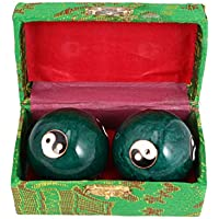 Healifty Bola de Masaje de Manos Tai Chi Yin Yang Chino Campanas Articulaciones de La Mano Bolas de Salud para La Circulación Sanguínea Músculo Ejercicio de La Mano Terapia 47Mm 1 par