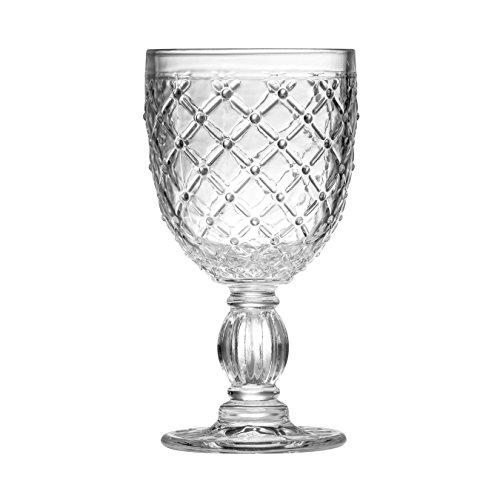 Premier Housewares Knit Verre à vin, Verre, 300 ML, 8 x 8 x 17 cm