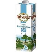 President Leche Semi-Desnatada - Pack de 6 x 1 l - Total: 6