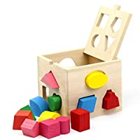 13-hole Intelligence Box Baby Early Education Enlightenment Cognition Wooden Shape Building Block Children's Educational Wooden Toys