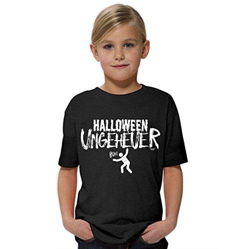 Kinder Mädchen Halloween kurzarm T-Shirt gruselig und witziges Halloweenshirt für Kids Halloween Ungeheuer Farbe: schwarz Gr: 152/164