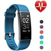 Letsfit Fitness Tracker mit Pulsmesser Fitnessarmband wasserdicht IP67 Schrittzähler Uhr Pulsuhren Smart Armband Uhr Aktivitätstracker mit Schlaf Monitor kompatibel mit für Android iOS Smartphone