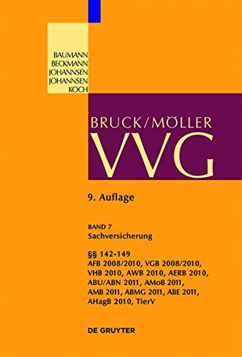 VVG: Sachversicherung, §§ 142-149 (Großkommentare der Praxis)